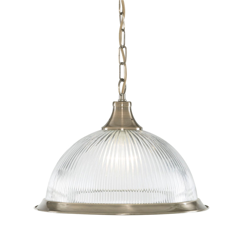 American Diner 1 Light Ceiling Pendant, Antique Brass