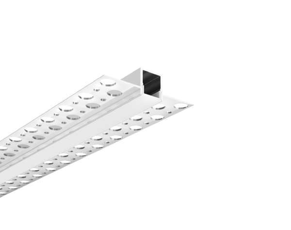 Trimless Plaster-In Recessed Aluminium LED Profile With Diffuser 3M