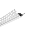 Trimless Plaster-In Recessed Aluminium LED Profile For External Corner With Diffuser 3M