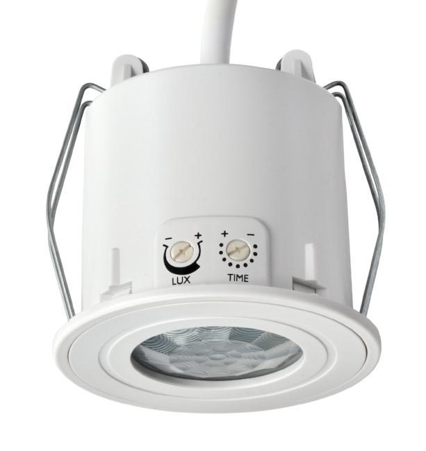 Danlers Splashproof Ceiling Flush Mounted PIR Occupancy Switch 6A Rating. Presence detection.