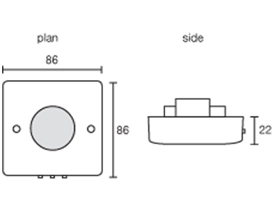 Ceiling Surface Mounted PIR Occupancy Switch Presence detection.