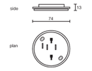 Ceiling Sockets for DANLERS Plug-in controls