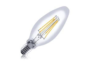 Candle Filament Omni Lamp Dimmable Full Glass Bulb E14 3.5w