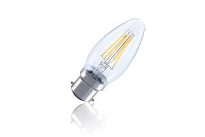 Candle Filament Omni Lamp Non-Dimmable Full Glass Bulb B22 4w