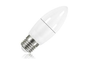 Candle Frosted Lamp Non-Dimmable Half Glass Bulb E27 5.5w