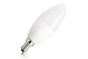 Candle Frosted Lamp Dimmable Half Glass Bulb E14 5.6w