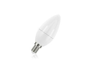 Candle Frosted Lamp Non-Dimmable Half Glass Bulb E14 7.5w