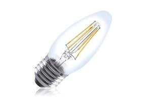 Candle Filament Omni Lamp Non-Dimmable Full Glass Bulb E27 4w