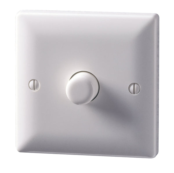 250W 1 Gang Rotary and Push LED Dimmer - Suitable for Mains Dimmable LEDs