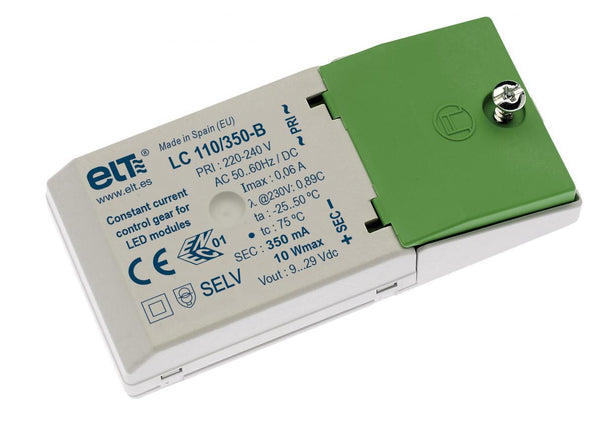 ELT LC110/350-B, Constant Current LED Driver 10W 9 → 31V 350mA