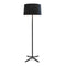 FLOOR LAMP HALL 3 X E27 30  MATT BLACK