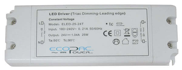 Ecopac Constant Voltage LED Driver ELED-25-24T 25W 24V