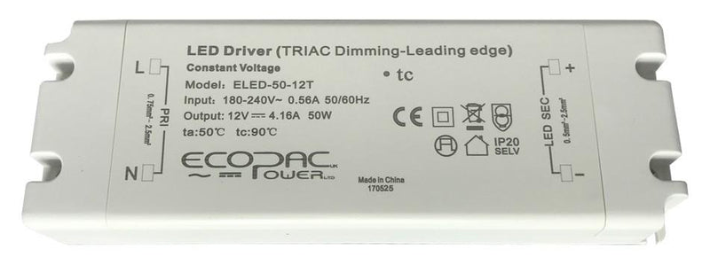 Ecopac Constant Voltage LED Driver ELED-50-24T 50W 24V