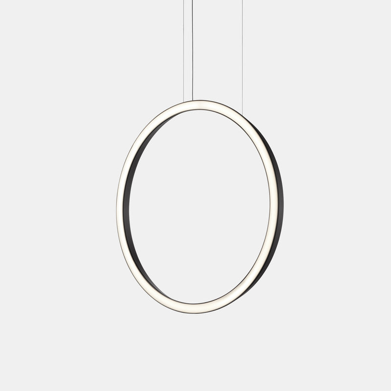PENDANT CIRCULAR VERTICAL LED 45.6 1202 LED WARM-WHITE 2400K DALI BLACK
