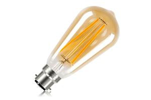 Sunset Vintage Filament ST64 Non-Dimmable Full Glass Bulb B22 2.5w