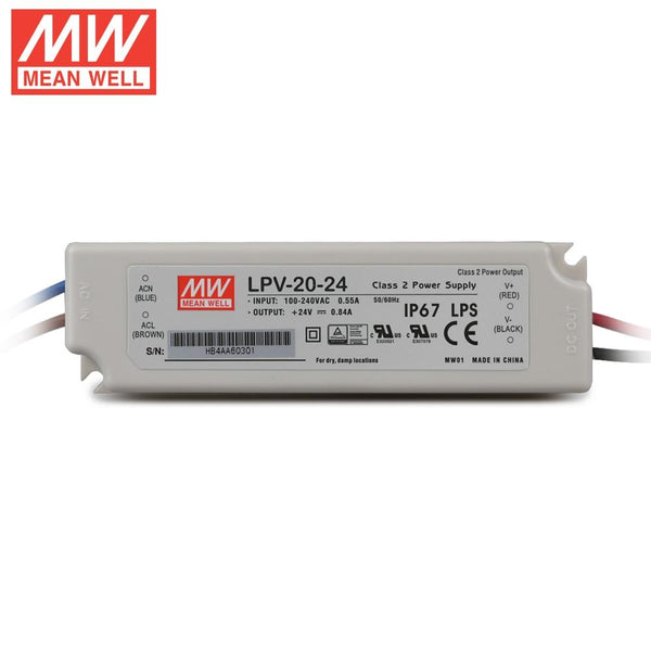 Mean Well LPV Constant Voltage LED Driver 24V
