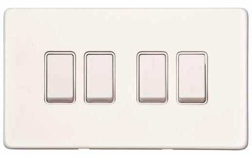 4 Gang 2 Way Switch - 10 AMP