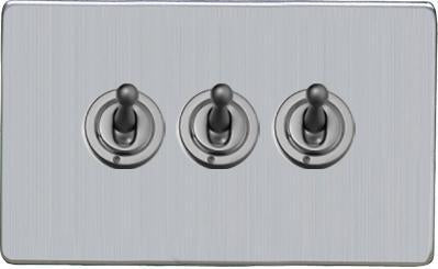 3 Gang Toggle Switches
