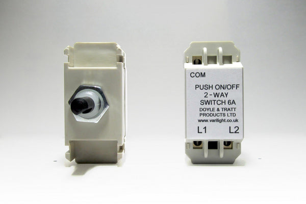 2-Way Push-On/Off Switch Module (Dummy Dimmer) 6A