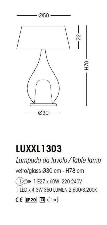 Zoe Table Lamp With Shade 78cm