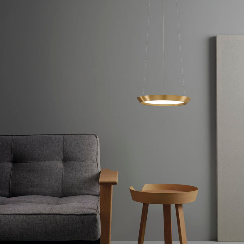 PENDANT SATURN 216 X LED 40  SATIN GOLD
