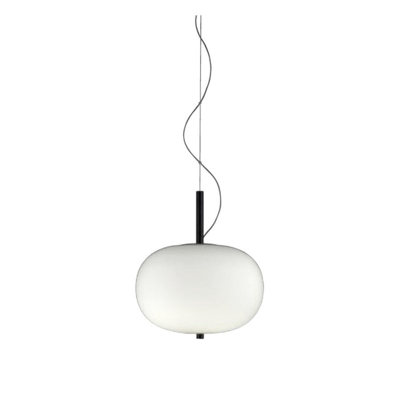 PENDANT ILARGI 8 X LED 8.5  DARK ASH MATT WHITE