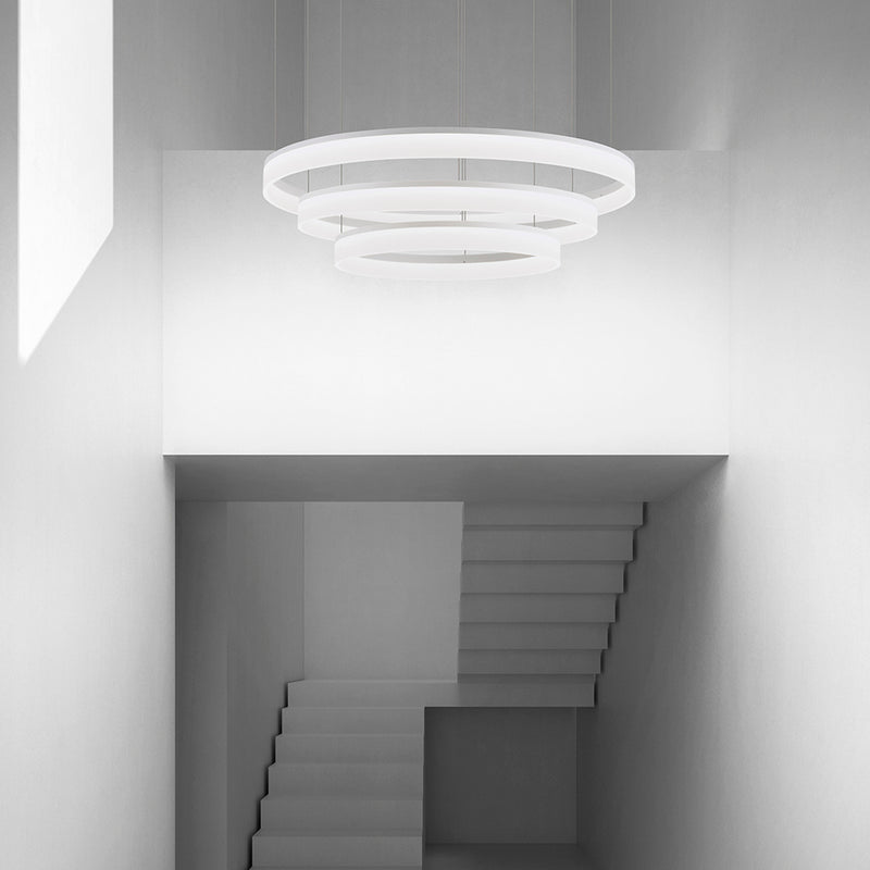 PENDANT CIRC 1512 X LED 89  MATT WHITE