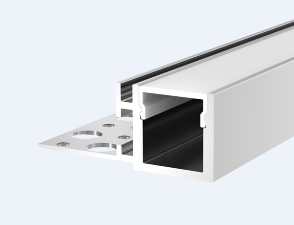 Aluminium Recessed LED Profile With Diffuser