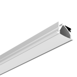 Recessed Mounting Aluminum LED Profile for Cabine + PC diffuser included - 2m