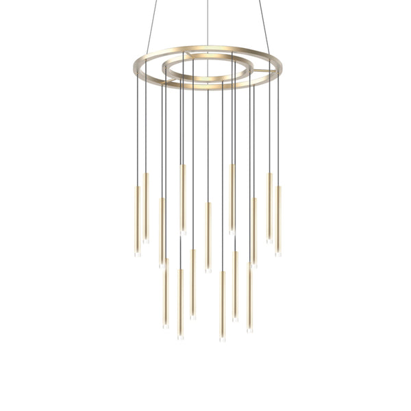 CANDLE CHANDELIER 15 X LED 49.4  SATIN GOLD