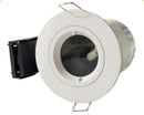 Twist & Lock Adjustable GU10 Fire Rated Downlight IP20, Matt White