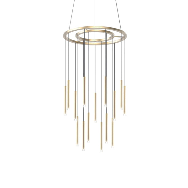 CANDLE CHANDELIER 18 X LED 62.8  SATIN GOLD