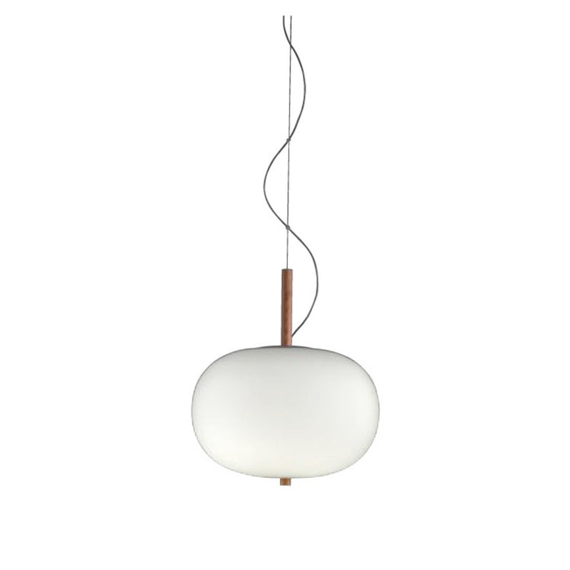 PENDANT ILARGI 20 X LED 21.4  DARK ASH MATT WHITE