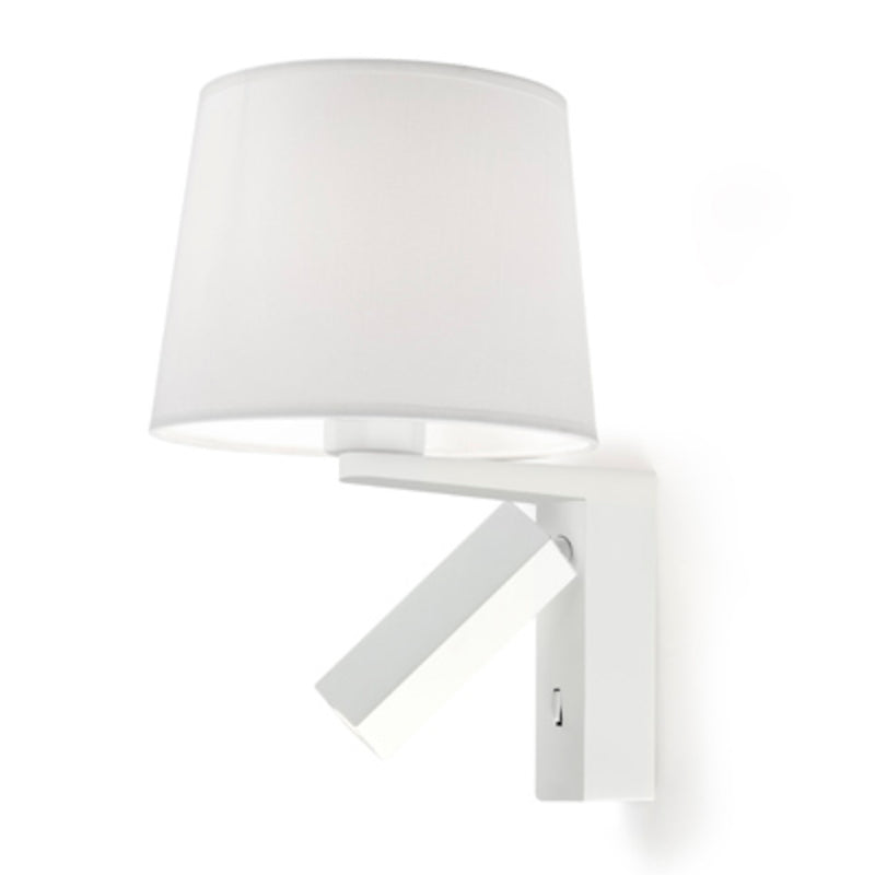 WALL FIXTURE HALL 1 X E27 60 , 1 X LED 3  MATT WHI