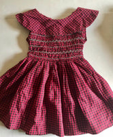 Vintage Plaid Smocked Party Dress 4t/5t