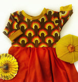 Autumn Rainbow Twirl Dress