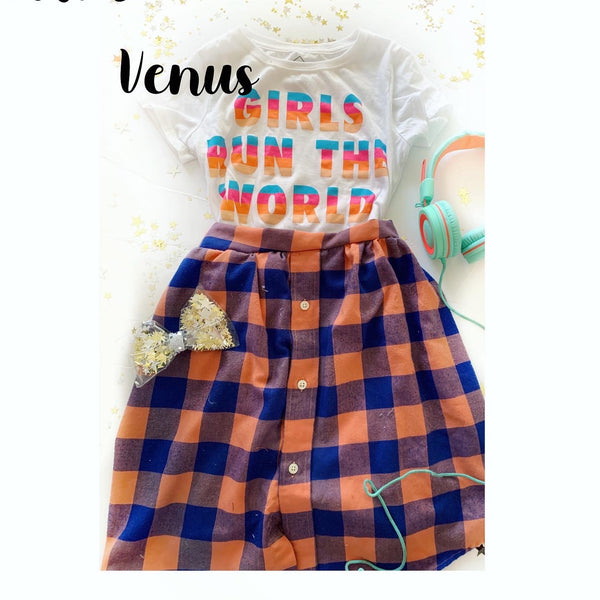 Venus colored Sadie Skirt can be made 2t-4t