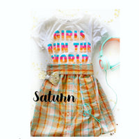 Saturn colored Sadie Skirt can be made 2t-4t