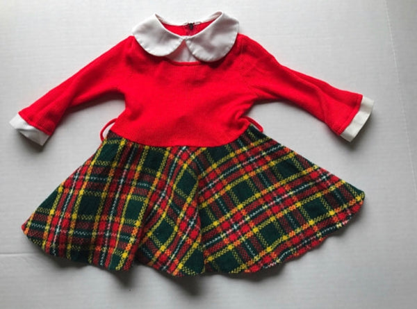 Vintage Plaid Dress 2t
