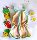 Rainbow Sherbet Beach Day Romper