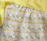 Vintage Yellow Lace Swing top 2t