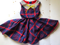 Plaid Party Twirl Dress 6x RTS