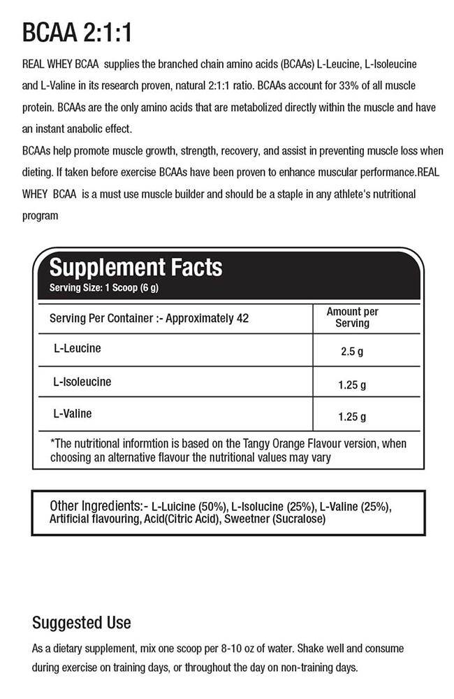 BCAA 2:1:1(25 servings)+ GLUTAMINE(20 servings) + CREATINE(20 servings) - Real Whey
