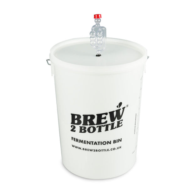 Brew2Bottle 25ltr Bucket, Lid with Grommet & Bubbler Airlock - Brew2Bottle Home Brew