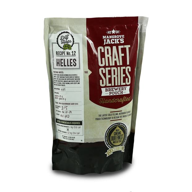 Mangrove Jacks Craft Series 40 Pints Helles Lager with Dry Hops - Brew2Bottle Home Brew