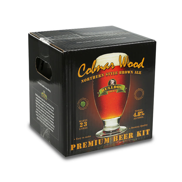 Bulldog Brews ABV 4.8% 40 Pint Beer Kit - Cobnar Wood Northern Style Brown Ale - Brew2Bottle Home Brew