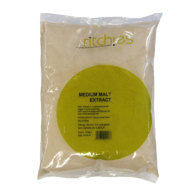 Ritchies Medium Spray Malt 1kg - Brew2Bottle Home Brew