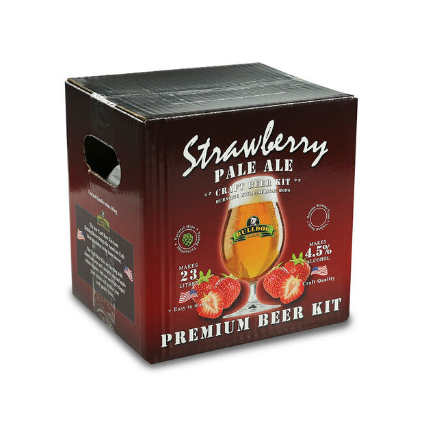 Bulldog Brews ABV 4.5% 40 Pint Beer Kit - Strawberry Pale Ale - Brew2Bottle Home Brew
