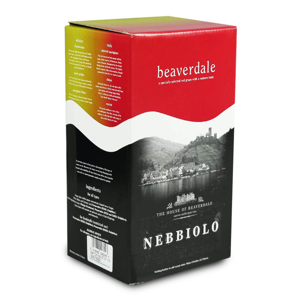 Beaverdale 4.5l 6 Bottle Red Wine Kit - Nebbiolo - Brew2Bottle Home Brew