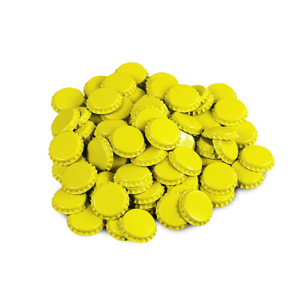 EasyBrew UK Yellow Crown Caps (50 Pack) - Brew2Bottle Home Brew
